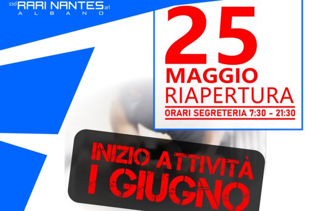 Riapertura 25 Maggio Centro Sportivo